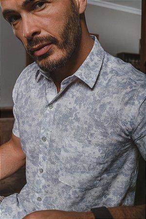 Camisa Slim Estampada M/C 506-21