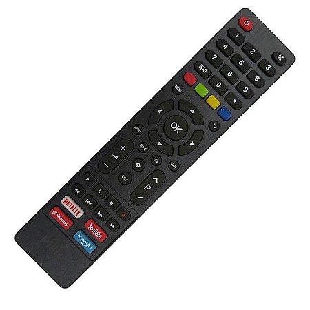 Controle Remoto Smart TV Philco Tecla Netflix Globo Play YouTube Linha PTV24, PTV28, PTV32, PTV39, PTV40, PTV42, PTV43, PTV49, PTV50, PTV55, PTV86