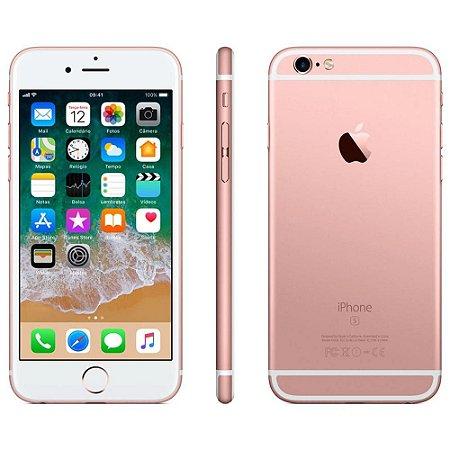 "iPhone 6s Apple com 3D Touch, iOS 11, Sensor Touch ID, Câmera iSight 12MP, Wi-Fi, 4G, GPS, Bluetooth e NFC, 32GB, Rose, Tela 4,7"""