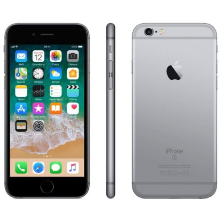 "iPhone 6s Plus Apple com 64GB, Tela 5,5"" HD, 3D Touch, iOS 11, Sensor Touch ID, Câmera iSight 12MP, Wi-Fi, 4G, GPS, Bluetooth e NFC - Cinza Espacial"