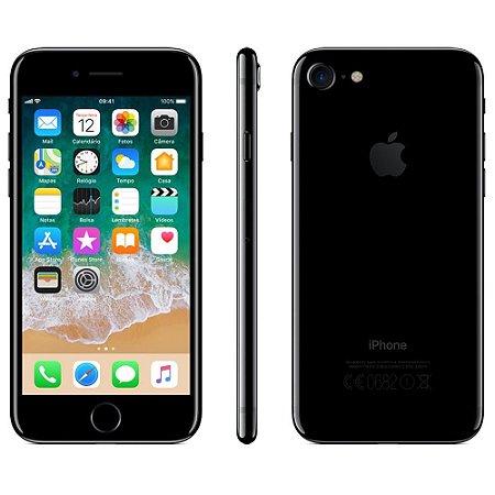 """iPhone 7 Apple com 3D Touch, iOS 11, Touch ID, Câmera 12MP, Resistente à Água, WiFi, 4G LTE e NFC, 32GB, Preto Brilhante, Tela HD de 4,7"""""""