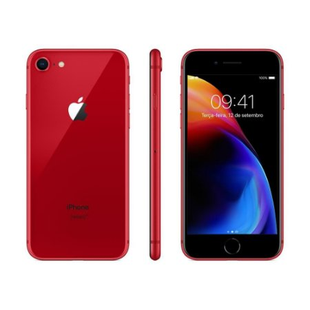 """iPhone 8 Apple RED Special Edition, iOS11, Câmera 12MP, 64GB, Vermelho, Tela HD de 4,7"""""""