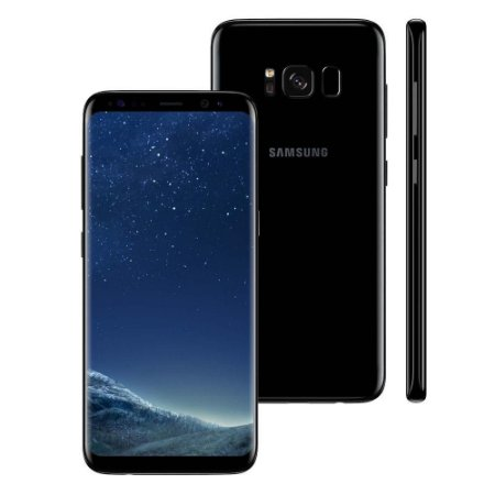 """Samsung Galaxy S8 Preto 64GB Dual Chip, Tela 5.8"""", Android 7.0, 4G, Câm. 12MP e Octa-Core"""