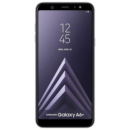 """Smartphone Samsung Galaxy A6+ Dual Chip, Câmera Traseira Dupla, Android 8.0, Processador Octa Core e 4GB RAM, 64GB, Prata, Tela Infinita de 6"""""""