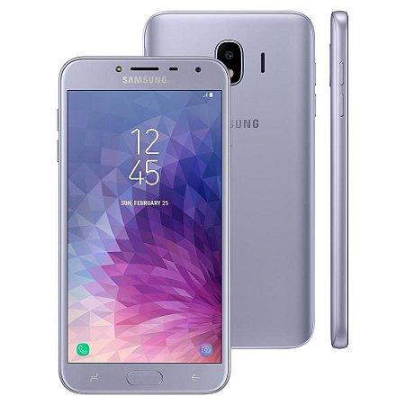 """Smartphone Samsung Galaxy J4 Dual chip, 4G, Câmera 13MP, Android 8.0, Processador Quad Core e RAM de 2GB, 32GB, Prata, Tela 5.5"""""""