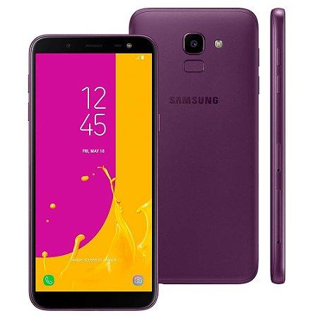 Smartphone Samsung Galaxy J6 Câmera 13MP, TV Digital HD, Dual Chip, Android, 8.0, Processador Octa Core e 2GB de RAM, 32GB, Violeta, Tela de 5,6