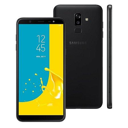 """Smartphone Samsung Galaxy J8 4GB RAM, Câmera Traseira Dupla, Câmera Frontal 16MP, Dual Chip, Android 8.0, 64GB, Preto, Tela Infinita de 6,0"""""""