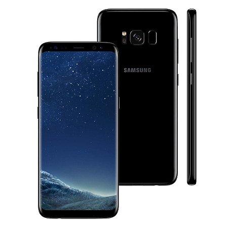 """Smartphone Samsung Galaxy S8 Plus Dual Chip Preto com 64GB, Tela 6.2"""", Android 7.0, 4G, Câmera 12MP e Octa-Core"""