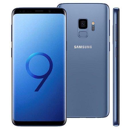 """Smartphone Samsung Galaxy S9 Azul com 128GB, Tela Infinita de 5.8"""", Dual Chip, Android 8.0, Câmera 12MP, 4GB RAM e Processador Octa-Core"""