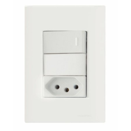 Interruptor Simples +Tom 10A- 250V Giz - Tramontina
