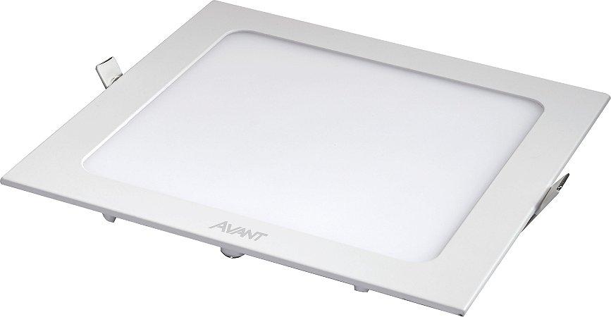 Painel Led Embutir Quadrado Branco 6500K 18W 22X22 Bivolt - Avant