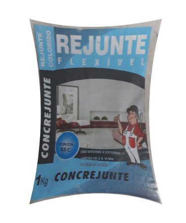 Rejunte Flex 1Kg Cinza Escuro - Concrejunte