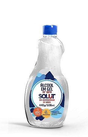 Alcool Em Gel 70% Antisséptico 440g/500ml - Solut