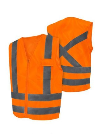 Colete Fluorescente Tipo Blusao Laranja - Worker - Worker