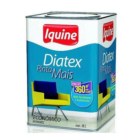 Tinta Diatex Fosco 18L Branco Neve - Iquine