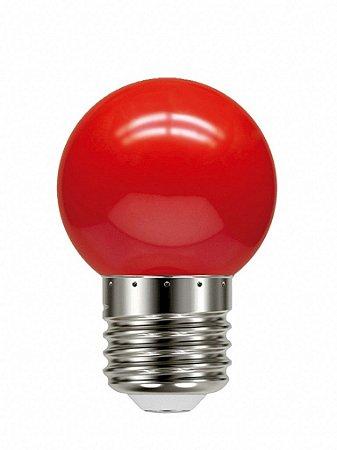 Lâmpada Led Bolinha Tbl 05 Vermelho 1W 127V - Taschibra