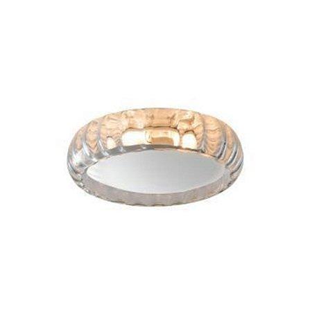 Plafon Moon Glass Rigato Conhaque Branca E27 - Taschibra