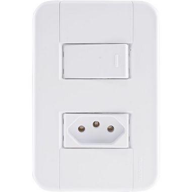Interruptor Simples+1Tomada 2P+T 20A Tablet- Tramontina