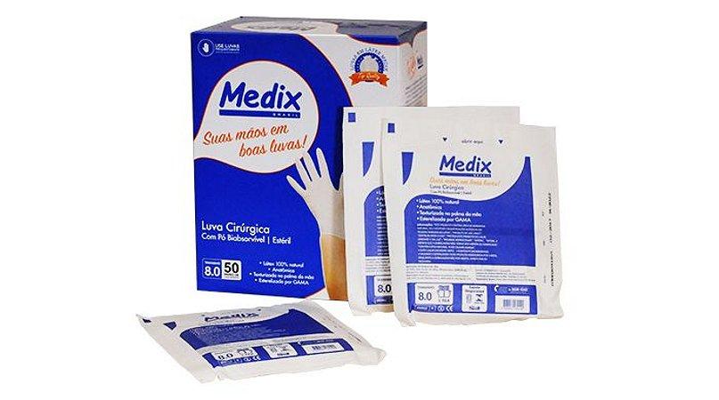 Luva cirurgica estéril  MEDIX - 6,0 O Par