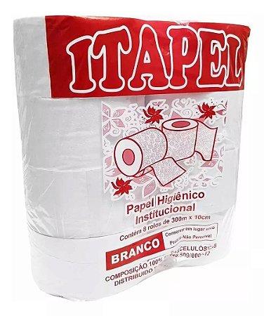 Papel higiênico folha simples rolão branco 1 fd 8X300 Itapel