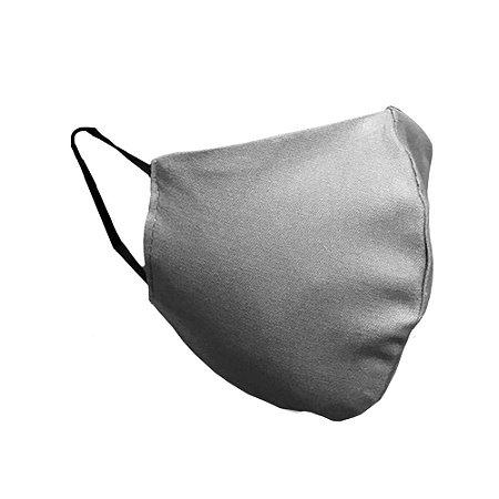 Mascara de tecido dupla reutilizável com elástico cor Cinza