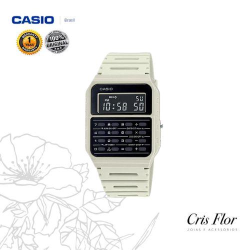 Relógio Casio Calculadora Branco CA-53WF-8B