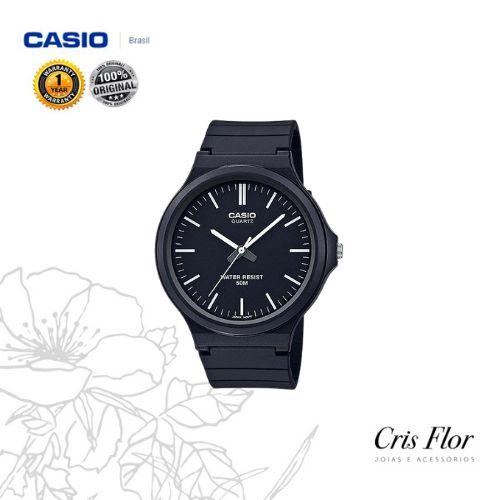 Relógio Casio Pulseira Borracha Preto MW-240-1EV