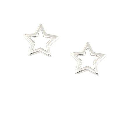 Brinco Ródio Branco Estrela