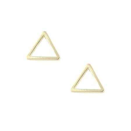 Brinco Folheado Triângulo Vazado