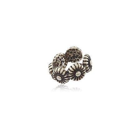 Brinco Prata 925 Piercing de Pressão Florzinha