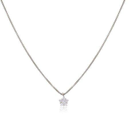 Colar Choker Ródio Branco Estrela Pequena de Zircônia