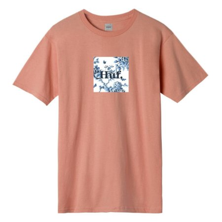 Camiseta HUF Highline Box Coral