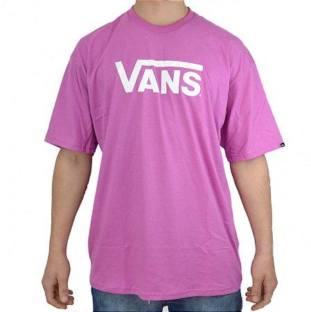 Camiseta Vans Classic Logo rosa