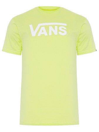 Camiseta Vans Classic Logo verde limão