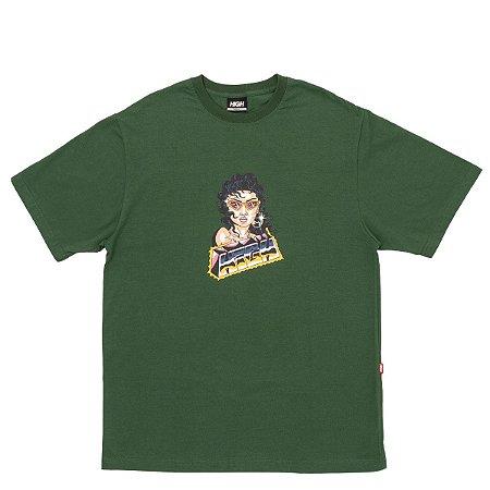Camiseta High Company Space Chica verde
