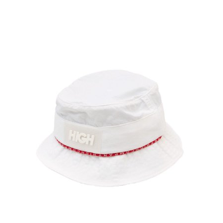 Bucket Hat High Company Striped branco