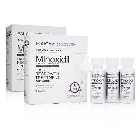 Foligain Minoxidil 2% para Mulheres - 6 Meses de Tratamento