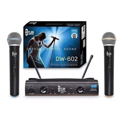 Microfone duplo sem fio Dylan DW-602