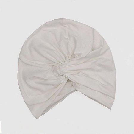 Turbante Touca Fechado Transpassado Branco