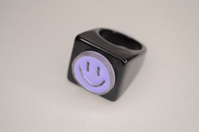 Anel Mimme Cube Smile Roxo