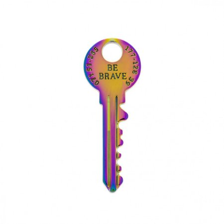 Pin Chave Be Brave - Anodizada