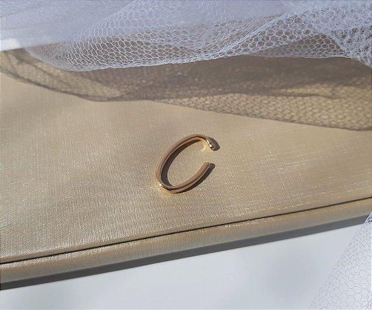 Fake Piercing Hook Fino (P) - Banhado a Ouro