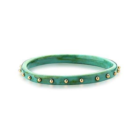 Bracelete Mimme Acrílico Turquesa