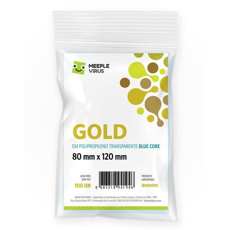 Sleeves Gold 80 x 120 mm (MeepleVirus)