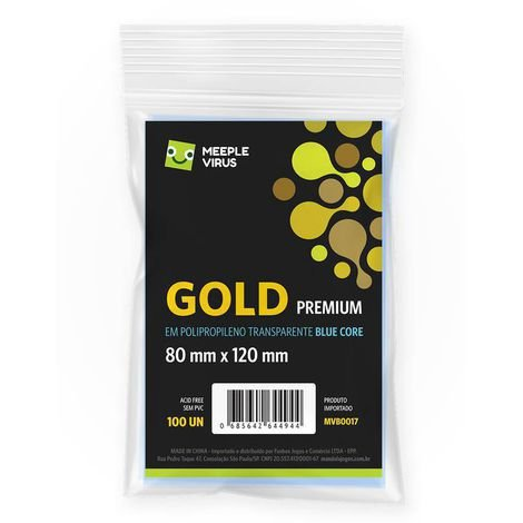 Sleeves Gold Premium 80 x 120 mm (MeepleVirus)