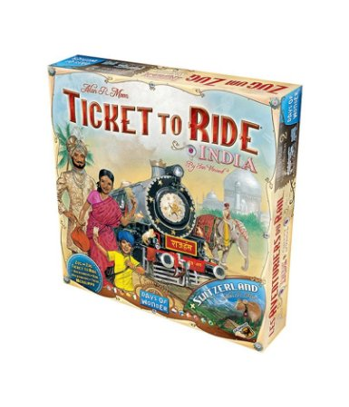Ticket to Ride - Índia e Suíça (Expansão)