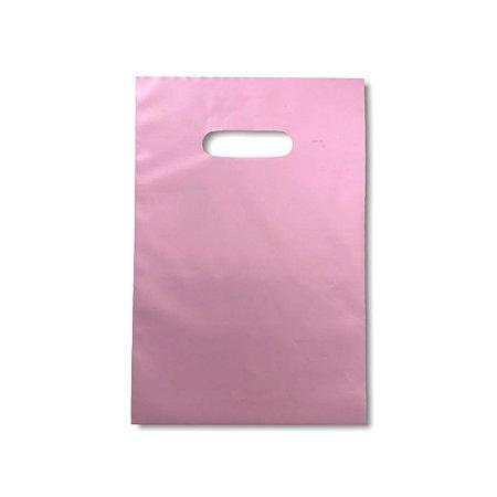Sacola Plástica / Boca de Palhaço / 20x30 / Rose