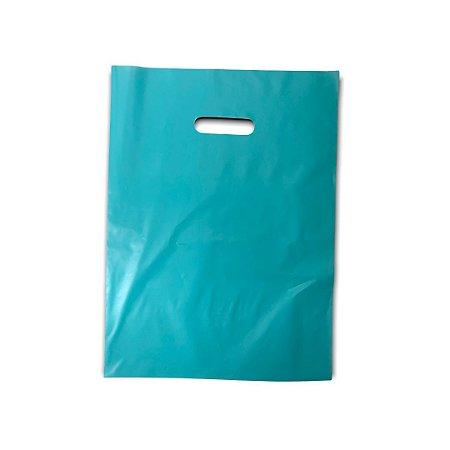 Sacola Plástica / Boca de Palhaço / 30x40 / Tiffany