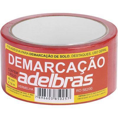 Fita Demarcação Solo Vermelha 48mmx14m Adelbras