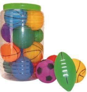 Brinquedo Bolas Esportivas Mini Sortidas Pote C/12